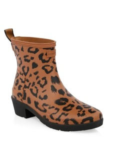 Hunter Leopard Print Original Refined Rainboots