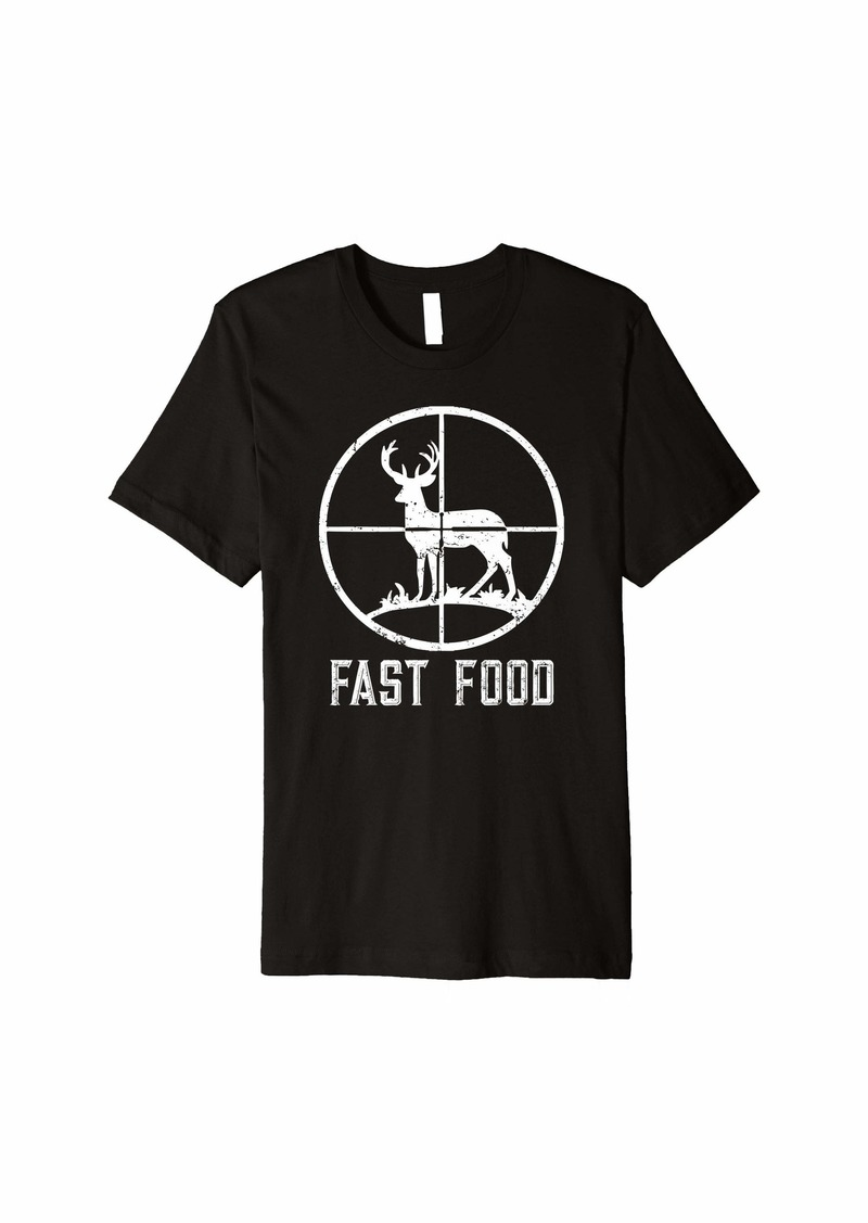 Mens Fast Food Deer Hunting T-Shirt Funny Gift For Hunters Premium T-Shirt