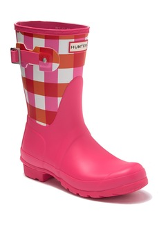 Hunter Original Short Gingham Printed Waterproof Rain Boot