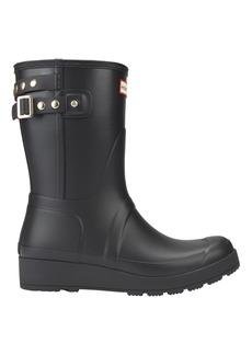 Hunter Original Studded-Strap Short Wedge Rain Boots