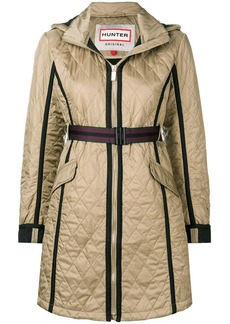 Hunter quilted zipped coat