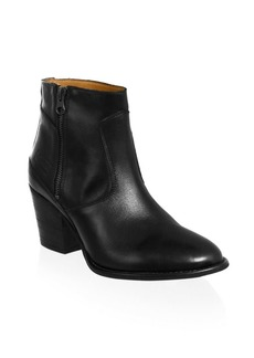 Hunter Refined Leather Ankle Booties