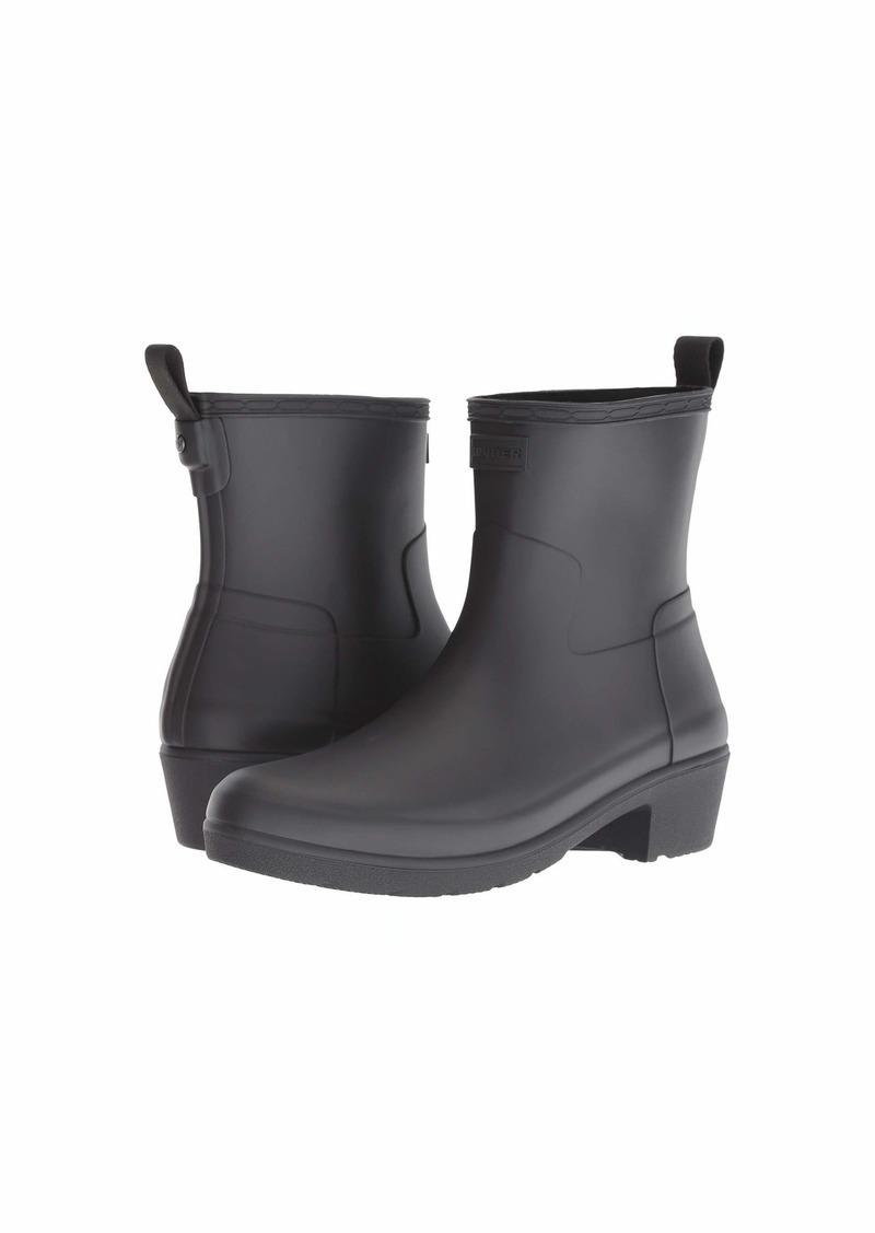 Hunter Refined Low Heel Ankle Biker Rain Boots