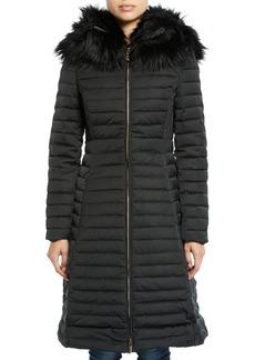 Hunter Refined Puffer Coat w/ Faux Fur Hood