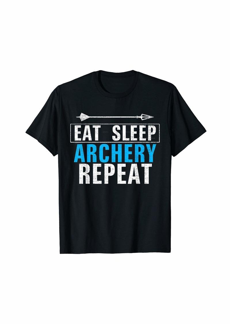 Vintage Eat Sleep Archery Repeat Funny Bow Hunter/Hunting  T-Shirt