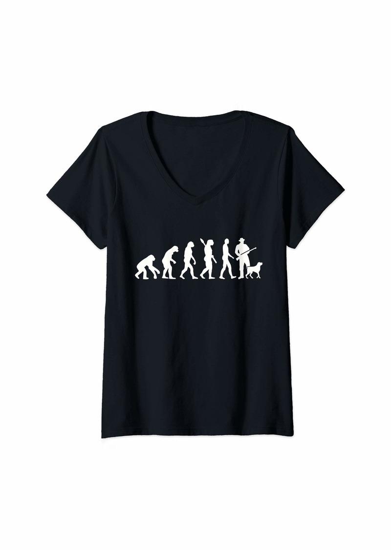 Womens Evolution hunter V-Neck T-Shirt
