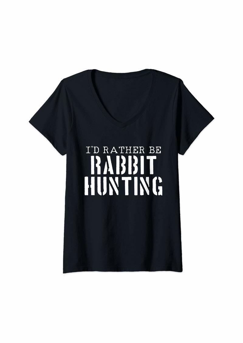 Hunter Womens Rabbit Hunting V-Neck T-Shirt