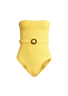 Hunza G Honor Strapless Swimsuit