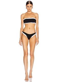 Hunza G Tracey Frill Bikini