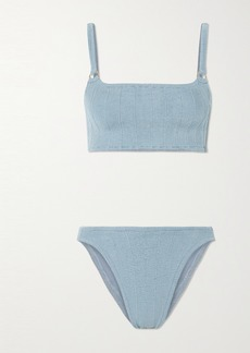 Hunza G Net Sustain Eunice Nile Ribbed Bikini