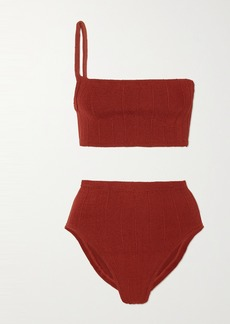 Hunza G Net Sustain Nile Maxime One-shoulder Ribbed Bikini