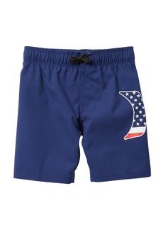 Hurley Americana Logo Pull-On Swim Trunk (Toddler Boys)