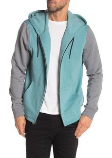 Hurley Branstad Front Zip Colorblock Hooded Jacket