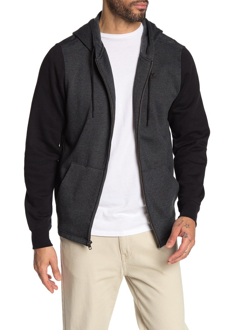 Hurley Branstad Front Zip Colorblock Hooded Jacket