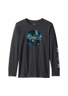 Hurley Circle Logo Graphic Long Sleeve T-Shirt (Big Kids)