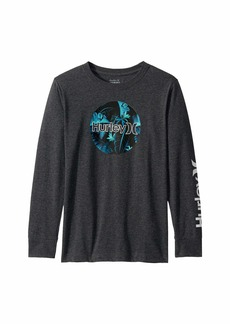 Hurley Circle Logo Graphic Long Sleeve T-Shirt (Big Kids)