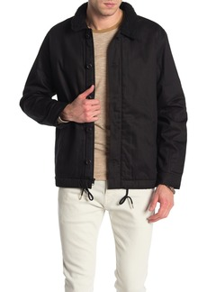 Hurley Faux Shearling Lined Military Jacket