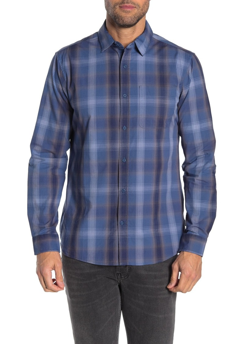 Hurley Grady Plaid Classic Fit Flannel Shirt