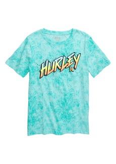 Hurley Acid Wash Gradient Logo T-Shirt (Big Boys)