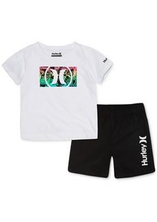 Hurley Baby Boys 2-Pc. Cotton T-Shirt & Swim Trunks Set