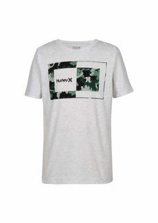 Hurley Big Boys' Geo Graphic T-Shirt Birch Heather camo M