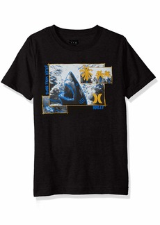 Hurley Big Boys' Picture Graphic T-Shirt Black White L