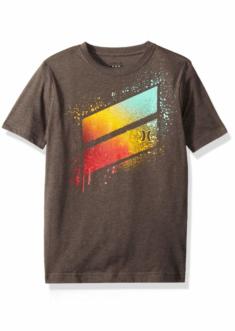 Hurley Big Boys' Slash T-Shirt Charcoal Heather L