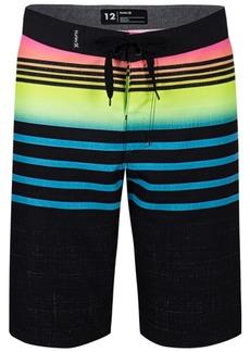 Hurley Big Boys Striped Colorblocked Swim Trunks