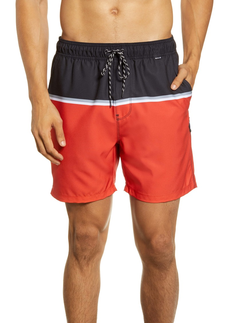 Hurley Blocked Volley Swim Trunks