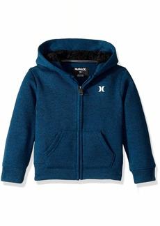 Hurley Boys' Little Full Zip Sweatshirt Blue Force icon