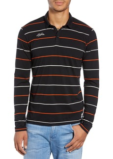 Hurley Channels Striped Long Sleeve Polo