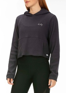 Hurley Chill Rib Fleece Crop Pullover Hoodie