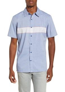 Hurley Dri-FIT Maritime Stripe Short Sleeve Button-Up Shirt