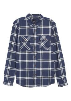 Hurley Dri-FIT Salinger Plaid Button-Up Performance Flannel Shirt