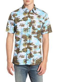 Hurley Garage Palm Tree Woven Shirt