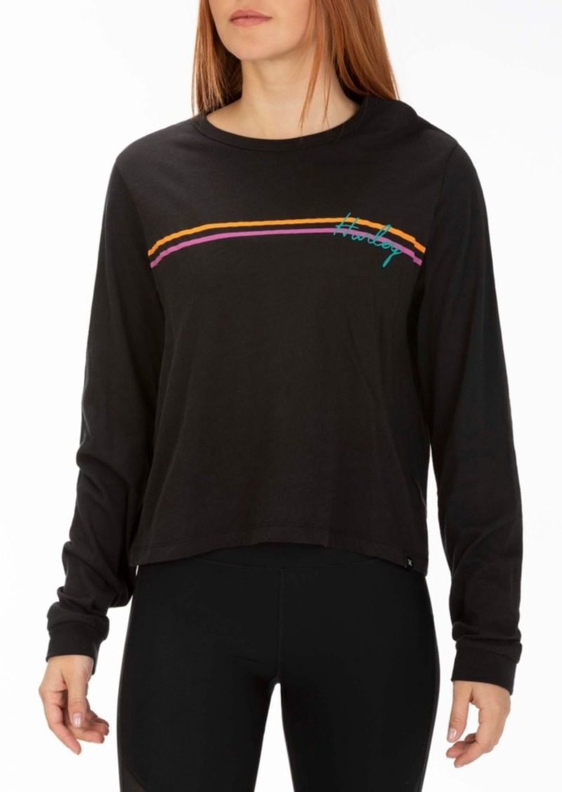 Hurley Juniors' Cotton Line Bars Graphic Top