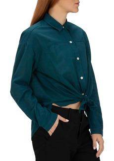 Hurley Juniors' Cotton Tie-Front Shirt