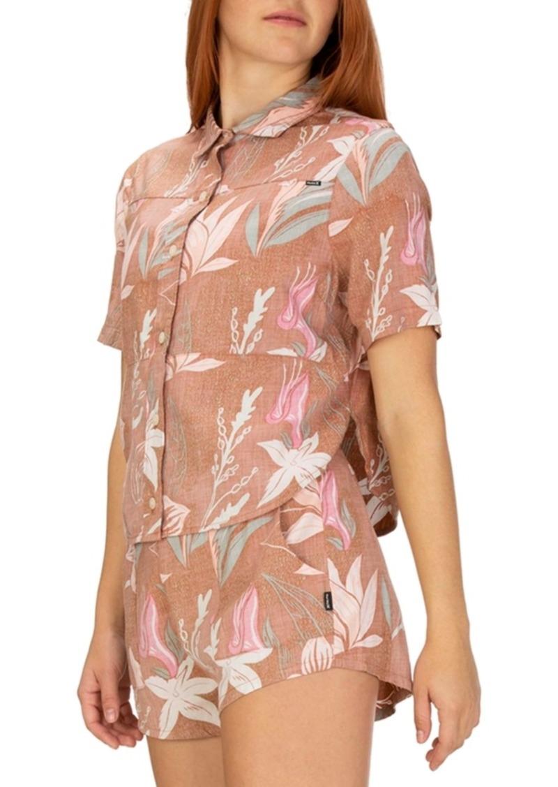 Hurley Juniors' Domino Printed Camp Shirt