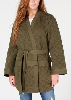 Hurley Juniors' Fleece Wrap Kimono Jacket