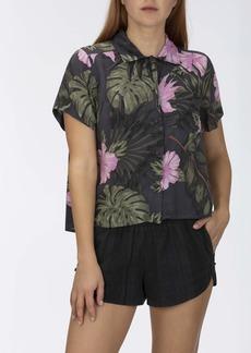 Hurley Junior's Getaway Short Sleeve Printed Button Up Woven Shirt