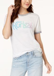 Hurley Juniors' Gradient Burnout Ringer T-Shirt