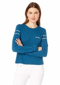 Hurley Women's Apparel Junior's Graphic Long Sleeve T Shirt  S