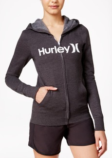 Hurley Juniors' One & Only Zipper-Front Logo Hoodie