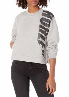 Hurley Junior's Sport Block Crew Neck Pullover Fleece Sweatshirt  S