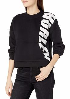 Hurley Junior's Sport Block Crew Neck Pullover Fleece Sweatshirt  M