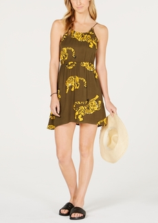 Hurley Juniors' Tiger-Print Cover-Up Dress