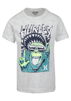 Hurley Little Boys Monkey-Print Cotton T-Shirt