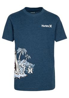 Hurley Little Boys Shark Beach Graphic T-Shirt