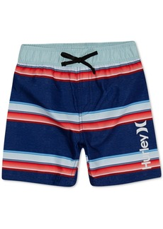 Hurley Little Boys Striped Board Shorts Swim Trunks