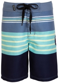 Hurley Little Boys Striped Colorblocked Swim Trunks